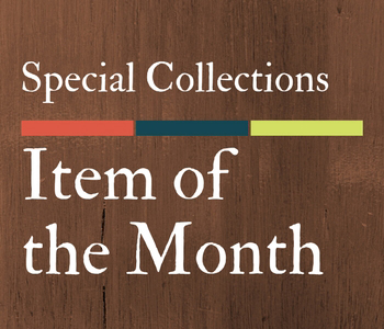 Special Collections - Item of the Month